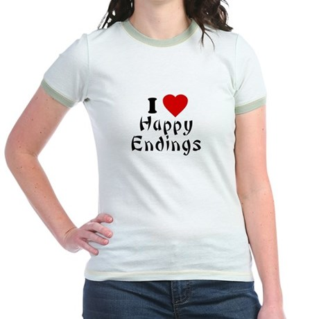 I Love [Heart] Happy Endings Jr Ringer T-Shirt