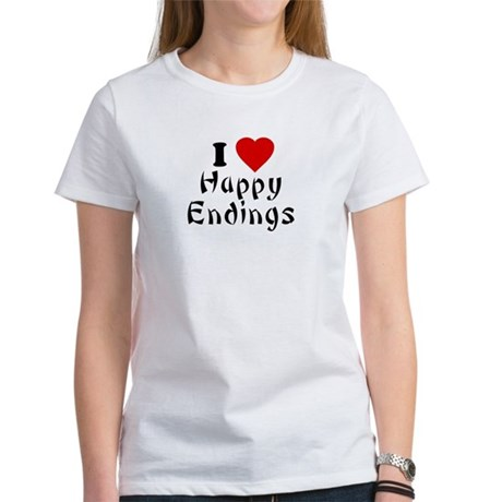 I Love [Heart] Happy Endings Womens T-Shirt