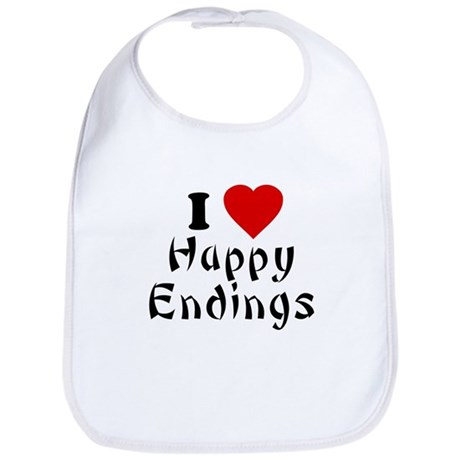 I Love [Heart] Happy Endings Bib