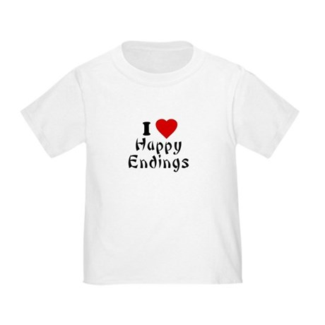 I Love [Heart] Happy Endings Toddler T-Shir