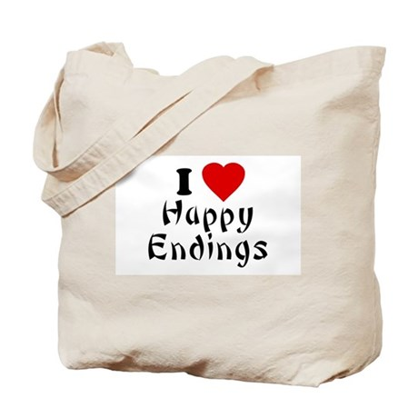 I Love [Heart] Happy Endings Tote Bag