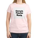 Georgia Peachs Rock Women's Pink T-Shirt