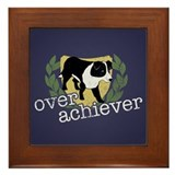 Border Collie Overachiever Framed Tile