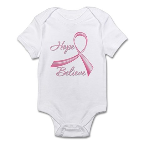 Breast Cancer HopeBelieve Infant Bodysuit