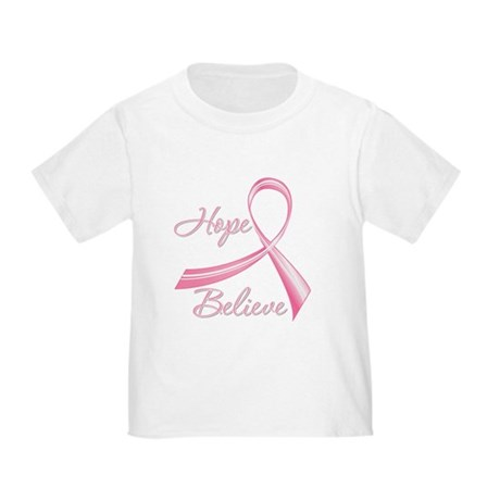 Breast Cancer HopeBelieve Toddler T-Shirt