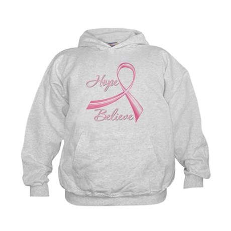 Breast Cancer HopeBelieve Kids Hoodie