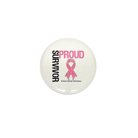 BreastCancer ProudSurvivor Mini Button (100 pack)
