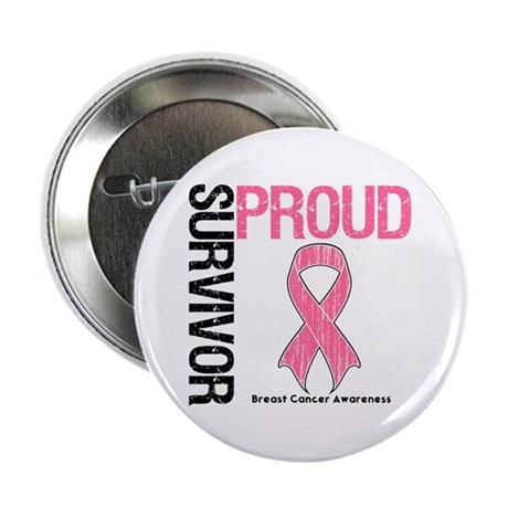 "BreastCancer ProudSurvivor 2.25"" Button (10 pack)"