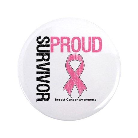 "BreastCancer ProudSurvivor 3.5"" Button (100 pack)"