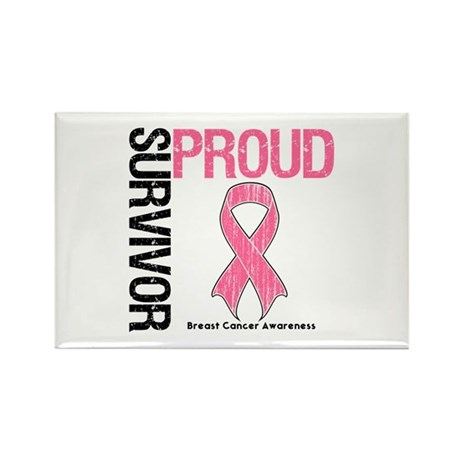 BreastCancer ProudSurvivor Rectangle Magnet (100 p