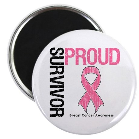"BreastCancer ProudSurvivor 2.25"" Magnet (10 pack)"