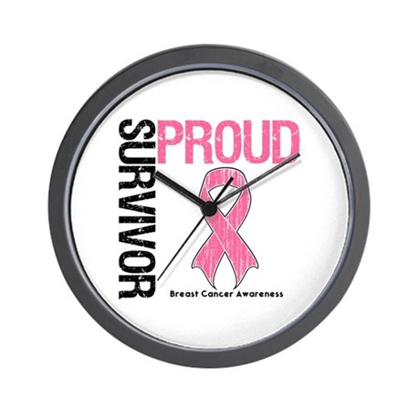 BreastCancer ProudSurvivor Wall Clock