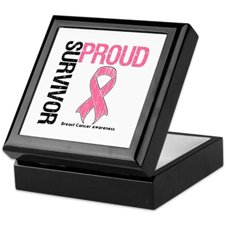 BreastCancer ProudSurvivor Keepsake Box