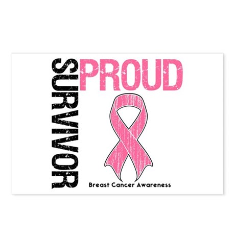 BreastCancer ProudSurvivor Postcards (Package of 8