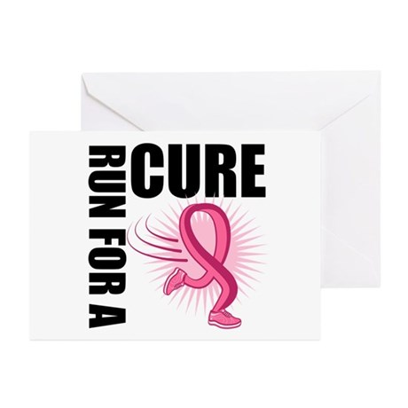 RunForACure BreastCancer Greeting Cards (Pk of 20)