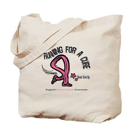 Breast Cancer RunForACure Tote Bag