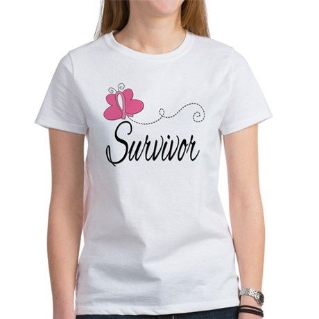 Butterfly Breast Cancer Women's T-Shirt