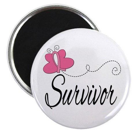 Butterfly Breast Cancer Magnet