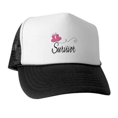 Butterfly Breast Cancer Trucker Hat