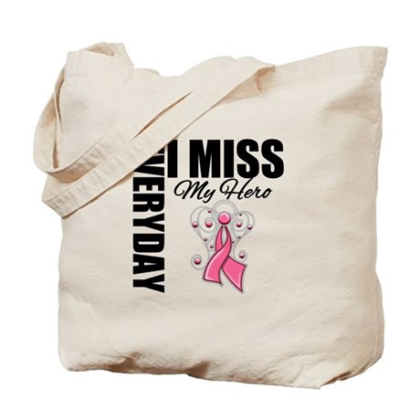MissMyHero BreastCancer Tote Bag