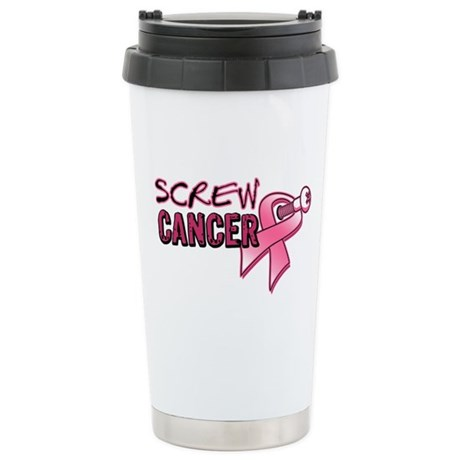 Screw BreastCancer Ceramic Travel Mug