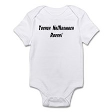 Yeshua Rocks - Black on White Infant Creeper