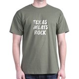 Texas Sweats Rock Black T-Shirt