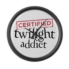 Certified Twilight Addict Large Wall Clock