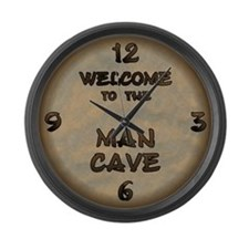 Welcome To The Man Cave Large Wall Clock