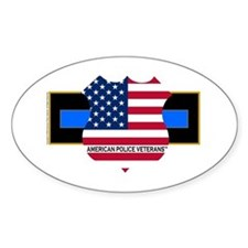 Policevets Logo 06 Oval Decal