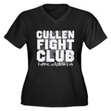 Cullen Fight Club Women's Plus Size V-Neck Dark T-