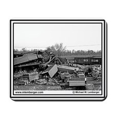 Rock Island RR - Train Wreck -Mousepad