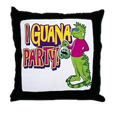 Iguana Party Throw Pillow