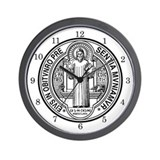 St. Benedict Exorcism Medal Wall Clock