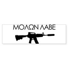 Molon Labe (Rifle) Bumper Sticker