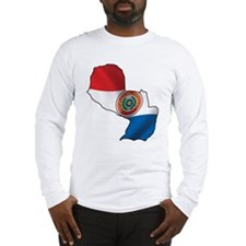 Map Of Paraguay Long Sleeve T-Shirt