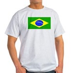 Brazil Blank Flag Ash Grey T-Shirt