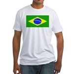 Brazil Blank Flag Fitted T-Shirt