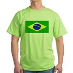 Brazil Blank Flag Green T-Shirt