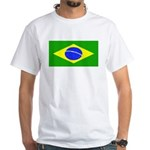 Brazil Blank Flag White T-Shirt