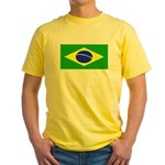Brazil Blank Flag Yellow T-Shirt