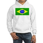 Brazil Blank Flag Hooded Sweatshirt