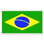 Brazil Blank Flag Rectangle Sticker