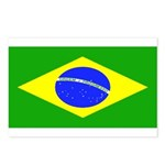 Brazil Blank Flag Postcards (Package of 8)