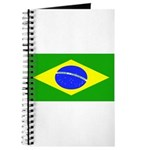 Brazil Blank Flag Journal