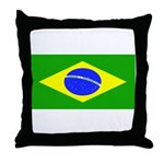 Brazil Blank Flag Throw Pillow