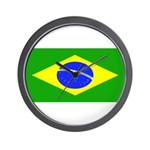 Brazil Blank Flag Wall Clock