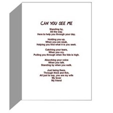 CAN YOU SEE ME Greeting Cards (Pk of 10)