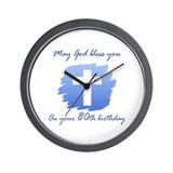 Christian 80th Birthday Wall Clock
