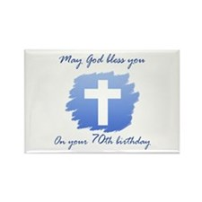 Christian 70th Birthday Rectangle Magnet (10 pack)